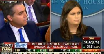 Ouch! Jim Acosta Gets Cocky at White House Presser – Sarah Huckabee Sanders Slaps Him Back Into Place (Video)