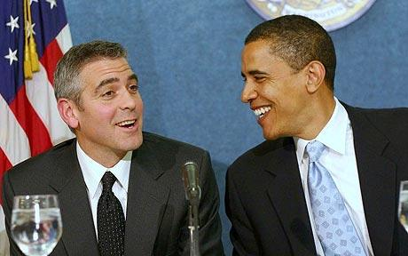 Obama and Clooney