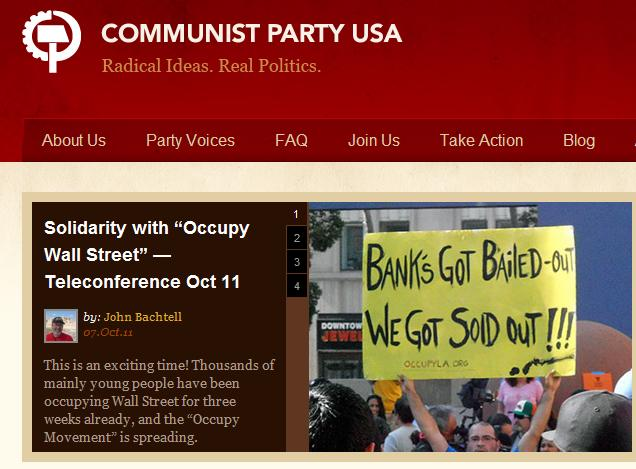 Nazis and Communists Throw Their Support Behind Occupy Wall Street Movements cpusa ows