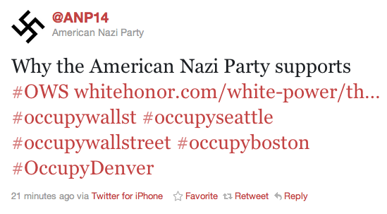 Nazis and Communists Throw Their Support Behind Occupy Wall Street Movements nazi party