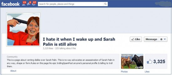 facebook sarah palin death