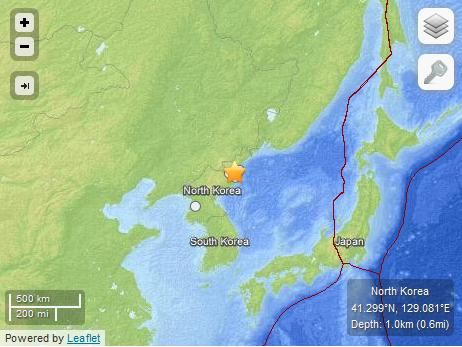 earthquake nk