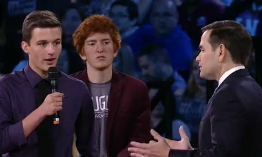 Father of School Shooting Survivor Cameron Kasky Posted Implied Threat Against Marco Rubio Before CNN Town Hall