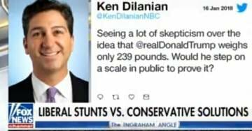 Unhinged MSNBC 'Investigative Journalist' Calls on Trump to Step on Scale in Public to Prove His Weight