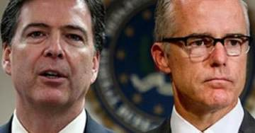 As Noose Tightens: Crooked Cops James Comey and Andrew McCabe Go Silent