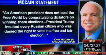 John McCain Trashes Trump for Congratulating Putin on Election Victory…  Just Like Obama Did in 2012