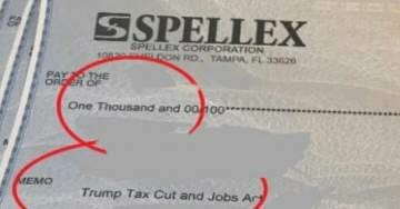 CEO of Spellex Pays Employees $1,000 Tax Cut Bonuses – Thanks President Trump on Each Check (VIDEO)