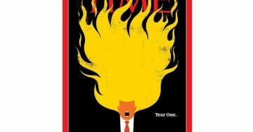 Outrageous! Far Left TIME Magazine Puts Trump's Hair on Fire on Cover — Releases Nasty Trump-bashing Video